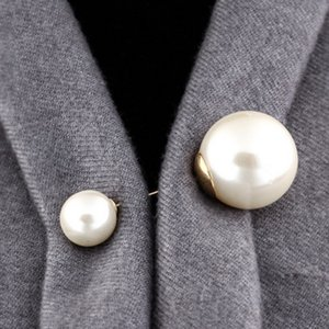 High Quality Vintage Gold Brooch Pins Accessories Simulation Large Big Pearl Brooches For Women Wedding Jewelry