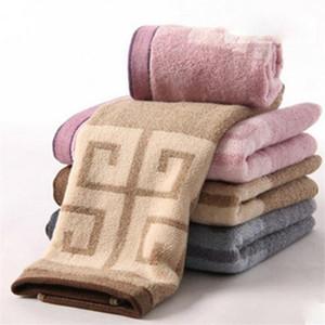 Couple Quick Dry Face Towel Classic Soft Touch Pattern Men Women Hair Towel Four Colors Cotton Unisex Bathing Towel
