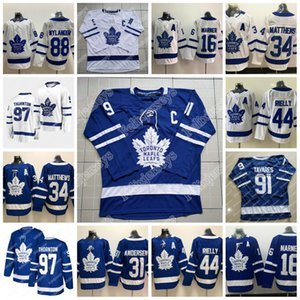 97 Joe Thornton Toronto Maple Leafs Mitch Marner John Tavares Auston Matthews Frederik Andersen Morgan Rielly William Nylander Hokeyi Jersey