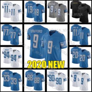 Detroit 9 Matthew Stafford Aslanlar Formalar 88 T.J. Hocenson 11 Marvin Jones JR Özel 30 Jeff Okudah 5 Matt Prater Futbol Forması