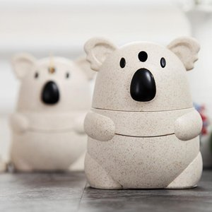 Palha de trigo Moda Koala bonito Fibra dos desenhos animados Toothpick Garrafa criativa Toothpick Box Matic Toothpick Can bbyzuj hotclipper