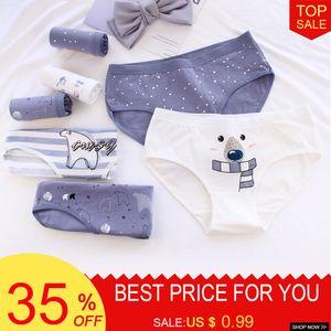 Women's Briefs Print Seamless Cotton Panties Thongs Women Lingerie Low Waist Femme Womens Intimates Underwear Comfortable Tangas