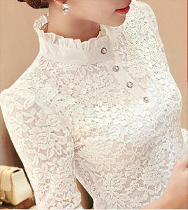 Femme Top Autumn Winter Blouses For Women Long Sleeve Lace Floral Patchwork Blouse Shirts Casual Tops Blusas Plus Size 3xl