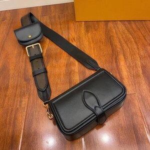 cuerpo cruzado conjunto bolso mochila bolsa de doble bolsa de hombro de la manera del cuero genuino para los hombres presbicia Mini hombro del paquete bolso de la señora al por mayor