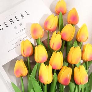 Fleurs artificielles Mini tulipe fleurs artificielles décoration de mariage fleurs artificielles bouquet maison décoration de jardin tulip cadeaux mer ddc5965