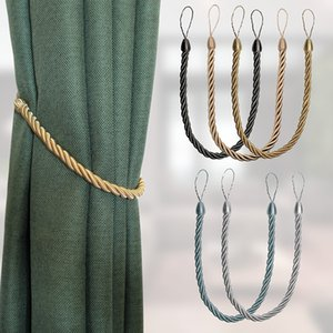 1Pc Handmade Weave Curtain Tieback Gold Curtain Holder Clip Buckle Rope Home Decorative Room Accessories Curtain Tie Backs Sheer Curtains