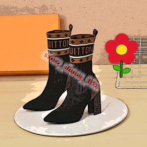 Louis Vuitton LV Boots shoes 2020 New lusso Femmes cheville HLAF haut talon Sock bottillons Mesdames HighTop Bottes Aftergame Quinconce sexy talon chaussures femme taille 35-42
