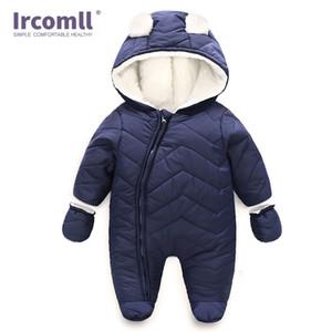 Ircomll Bebek Giyim Karikatür Ayı tulum Yenidoğan Sıcak Yumuşak Unisex Bebek Erkekler Kızlar Tulum tulumları Dış Giyim 1021