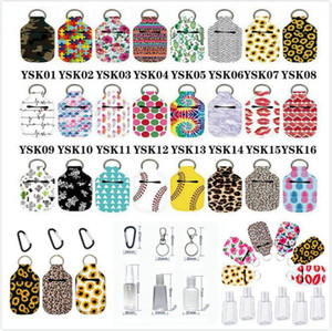 68 Styles Neoprene Hand Sanitizer Bottle Holder Keychain Chapstick Holder Lipstick Holders Handbag Keychain Party Favor DDA642