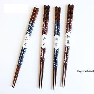 Style Japonais Bois Chopsticks environnement Portable Chopstick Bois de Châtaignier à pointe fine Sushi Chopsticks Chinese Arts de la table alimentaire