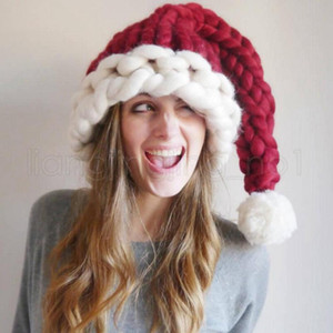 3styles Wool Knit Hats Christmas Hat Fashion Home Outdoor Party Autumn Winter Warm Hat Xmas gift party favor indoor tree decor FWE2872