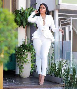 Abito da due pezzi Moda casual Rassuffle Scuba Set elegante sexy scollo a V manica lunga donna business business blazer matita pants1