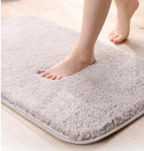Carpet Bathroom Non Slip Mats Solid Color Plush Carpets Floor Mat Decorative Water Absoration Blanket Floor Foot Warm Carpet Room YYS3779