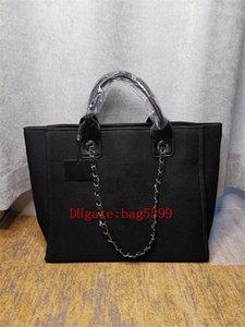 Frauen Große Kapazität Handtasche Schultertaschen Damen Mode Leinwand Hohe Qualität Mädchen Patent-Leder Weberei Kette Aufbewahrungstasche