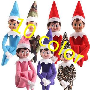 10 Estilos de brinquedos do Natal do duende boneca de pelúcia duendes Papai bonecas de roupa na prateleira para o presente de pelúcia boneca de Natal brinquedos 02