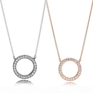 Designer Jewelry Ring Necklace Plated 18K Gold Screw Necklace with Rose Gold Platinum Luxury Woman love gift 2 colors zdl00730.