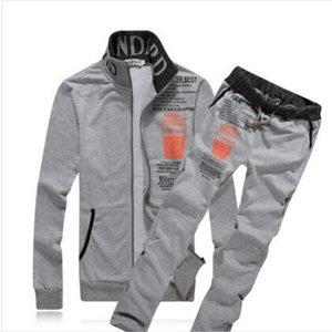 Mens Tracksuits Mens Casual Active Sets 2020FW Hot Sale Two-piece Suits Men Letter Print Zip Cardigans + Pants Hip Hop Autumn Sets