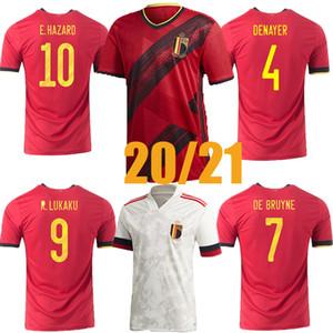 Más nuevo 2020 2021 Bélgica Soccer Jerseys de Bruyne Lukaku Hazard Batshuayi Kompany Men Football Shirt