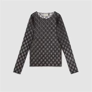 Kadınlar Moda Dantel Uzun Kollu Top 2 Renkler için Mektupları İşlemeli Tül Tişört Siyah Seksi Base Coat