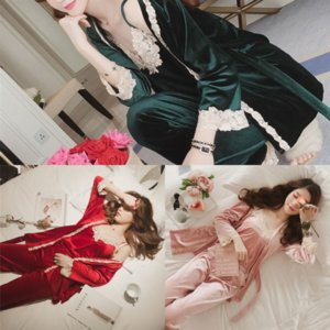 PC73 Sping Saten Seksi Kadın Göğüs Pedleri Ile Lady Kadınlar Pijama Pijama Pamuk Pijama Dantel Uyku Bayanlar Salonları