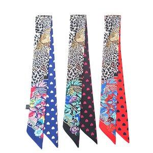 Design moda donna di fascia alta Legato borsa sciarpa Sciarpa Signore Piccolo Bow Brow Blow Bedscarf Sciarpe di seta involucro