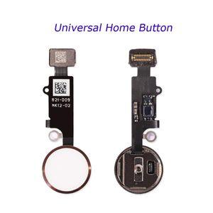 Универсальный телефон Home Button Ремонт Шлейф Fingerprint Flex кабель для iPhone 7 8 Plus Return Home Function Solution 3-го поколения