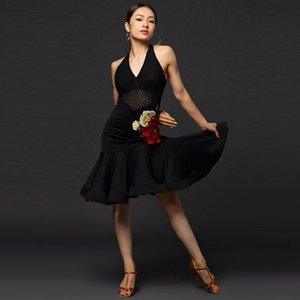 Latin dance practice clothes female adult professional performance clothing new suit Latin dance skirt dress sexy - A3181