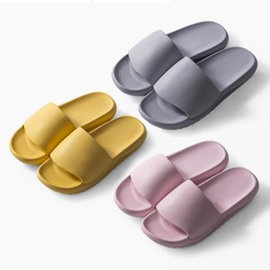 Summer Slippers Eva Sandals Women Men Thick Sole Non-Slip Indoor Flip Flops Home Bathroom Beach Floor Flat Shoes Pool Slides F1231