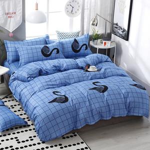 3 4pcs Set Simple Style Stripe Fashion Comforter Cotton Bedding Bed Linen Duvet Cover Set Pillowcase Home Textile Y200417