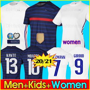 France soccer jersey Euro 2020 2021 football shirt Maglia da calcio Francia 100 ° anniversario 100 anni Maglia da calcio squadra World Cup Griezmann MBAPPE Kit uomo + bambino