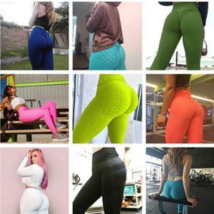 Leggins de cintura alta Sexy Hip Push Up Pantalones de yoga Pantalones de entrenamiento Ropa sólido transpirable clásico pantalón largo aptitud medias Envío gratis DHL