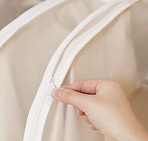 Guarente de la chaqueta para la prueba de almacenamiento para la protección del hogar Moisture JF006 Cubierta de polvo abrigo 1pcs / lot Side-Open Bag Clear Shirt WMTAW
