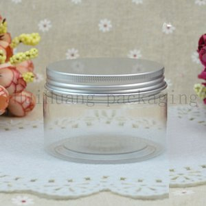 30pc 120g transparent empty cosmetic cream bottles,120ml clear PET jar container for cosmetics packaging ,skin care pots tin