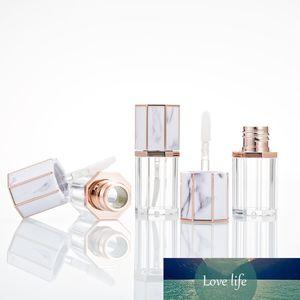 5 PC / SET 5ML Vide Blanc Bouchon de marbre clair Clear Plastique Lèvre Gloss Tube Voyage Bouteilles rechargeables Cosmétiques Conteneur Conteneur Lipgloss
