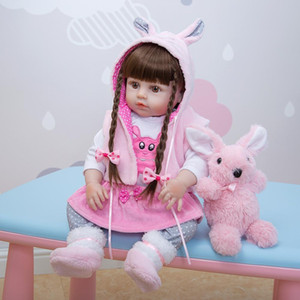 Wholesale KEIUMI bebe Reborn silicone Full Body 48 CM Realistic Princess Doll Baby Toys For Girl Children's Day Birthday Gifts Y0112