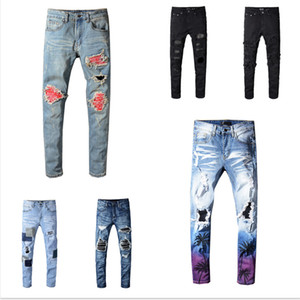 2020 Mens Designer Jeans Pocket Mens Pantaloni da uomo Migliore Qualità Distressed Hole Squipped Hole Adolescenti Streetwear Style Abbigliamento Pantaloni abbigliamento