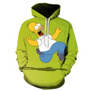 New Harajuku Cartoon anime The Simpsons hoodies men women sweatshirts printed 3d hooded pullover hooded casual streetwear Y200706