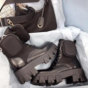 Женщины дизайнеры Rois Boots Ankle Martin Boots и нейлоновые ботинки военные вдохновлены боевые ботинки нейлоновые бич прикреплены к лодыжке с сумками