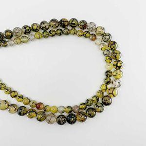 1 strang 6 8 10 mm natürlich stein gelb gelb drache vene agat perlen runde lose spacer perlen für schmuck findings h bbyxaf