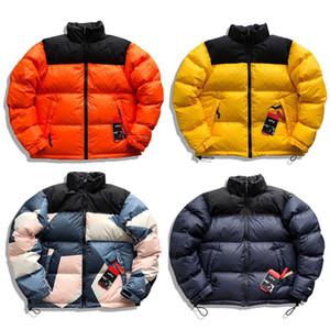 Mens Retro Nuptse Jacket Bordados Logo Casual Oversized Curto Inverno jaquetas Homens Mulheres Outdoor Sports Streetwear 11 Cores MG200287