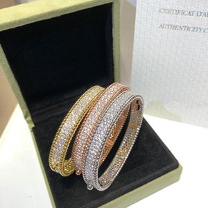 Bracelet Full Diamond Beads Bracelet Jewelry Sub-gold material Women Wedding jewelry three color1