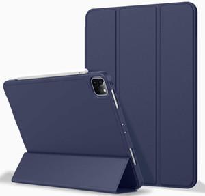 iPad Pro 11 Case 2020 с держателем карандаша, защитный чехол Premium Premium с мягким TPU и автоматическим соном / следствием для 2020/2018 IPAD PR