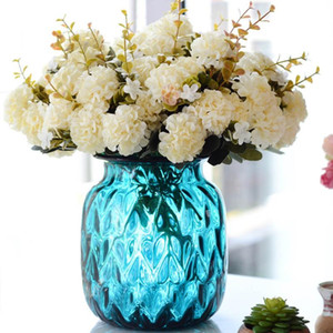 Decora Wedding The Ball Chrysanthemum Artificial Flowers 1PCS 10 buds DIY Potted PlantsDecoration Flower Fake Plant