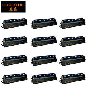 12pcs / Lot Novo Wireless Bateria Led lavador luz 6x18W 6in1 RGBWA + UV 6 mistura de cores recarregável Led Wall Washer 90V-240V Led Bar TIPTOP