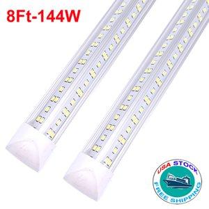 8ft 144W T8 Integrated V shape LED tube light tube T8 lamp 2835 LED light 144W 8ft AC85-265V led tube high brightness
