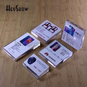 10PCS acrylique Étiquette de prix Étiquette Holder bureau Présentoir cristal Cadre photo de table Papier rack Hôtel Connectez-vous pour la Base de détail Boutique