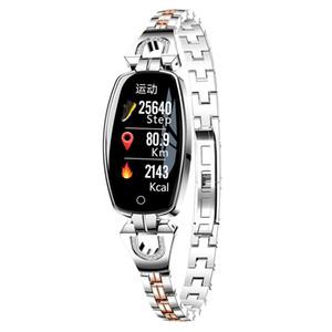 السيدات جديدة الذكية النساء ووتش الأزياء باشيليت الذكية IP68 للماء ساعة ذكية للياقة البدنية المقتفي مع معدل ضربات القلب والنوم مراقبة السعرات الحرارية