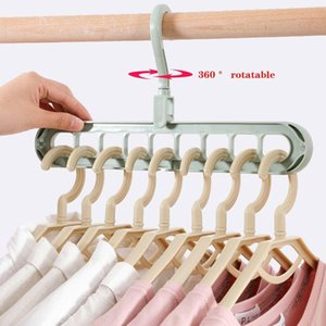 Clothes Hanger Closet Organizer Space Saving Hanger Multi Port Clothing Rack Plastic Scarf Cabide Storage Hangers For Clothes jllesf