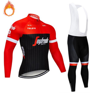etixxl Warm 2020 Winter Thermal Fleece Cycling Clothes Men's Jersey Suit Outdoor Riding Bike MTB Clothing Bib Pants Set