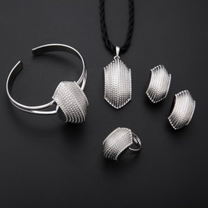 Traditional Ethiopian Trendy Jewelry Color Sets African Silver Plated Fashion